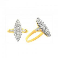 Bague marquise or bicolore et diamants de 0,35 carats.
