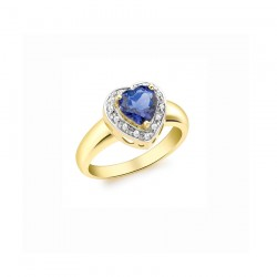 Iolite Ring heart