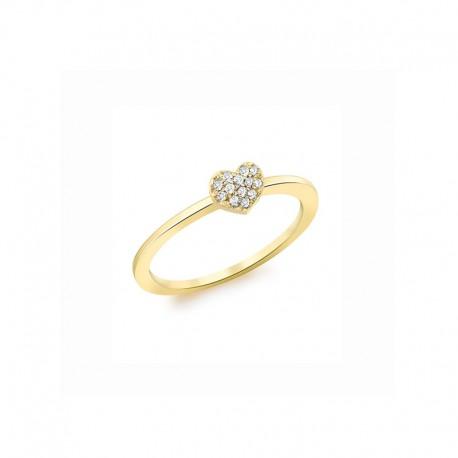 Corazón del anillo de oro