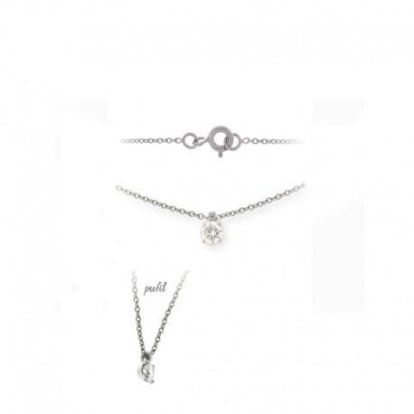 Halsketten aus Weißgold und Diamanten