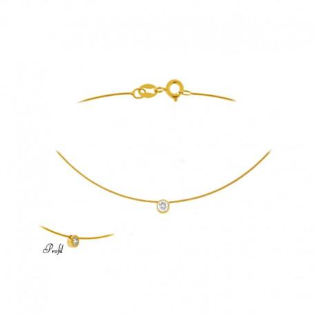 Gold und Diamant halsketten