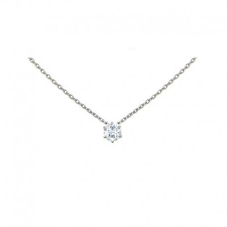 Collares de oro blanco y diamantes