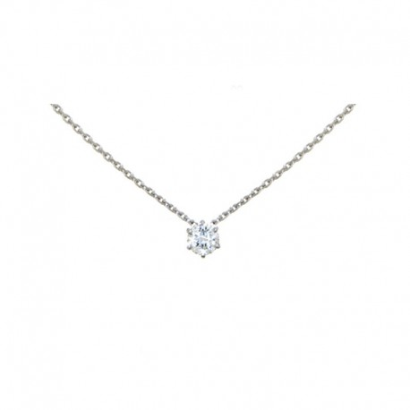 Colliers Or gris et Diamant