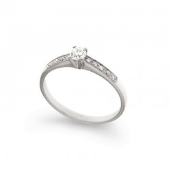 Gold Diamond Solitaire Ring