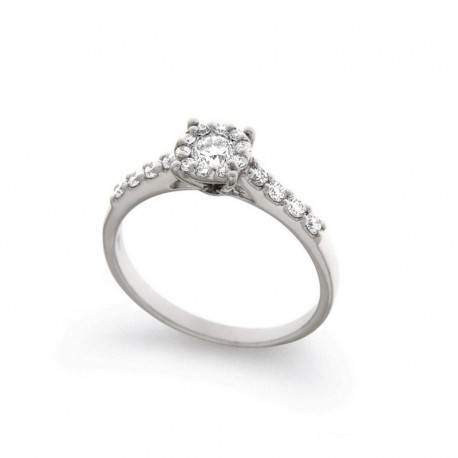 White Gold Ring and Diamonds