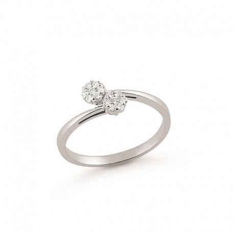 ring Grey Gold and Diamonds
