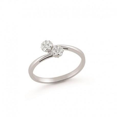 Ring Weißgold und Diamanten