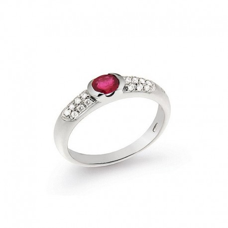Ring Gold Diamond and Ruby