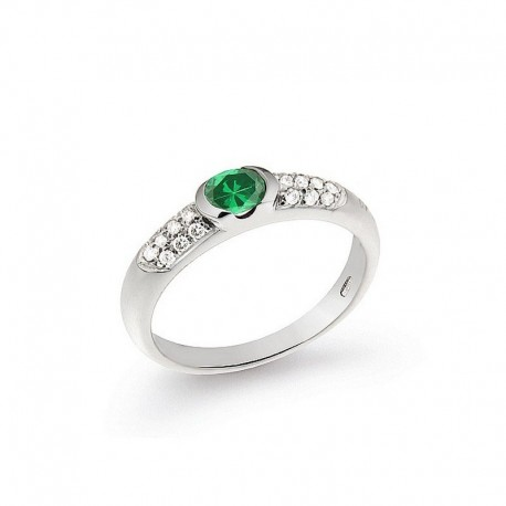 Ring Gold Diamond and Emerald
