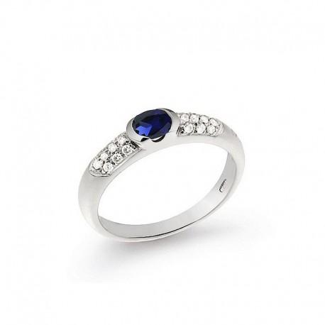 Bague Or Diamant et Saphir