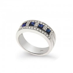 Gold Diamond and Sapphire Ring
