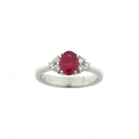 Ring Gold Diamant und Rubin