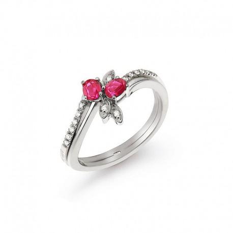 Anillo de oro diamante y rubí