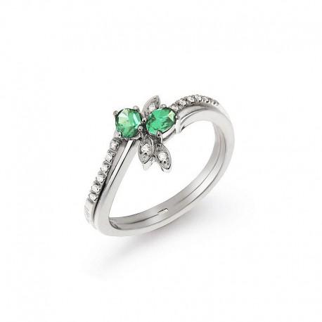 Ring Gold Diamant-und Smaragd