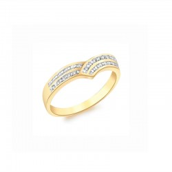 Gold Ring 375/1000 diamond 0.07ct