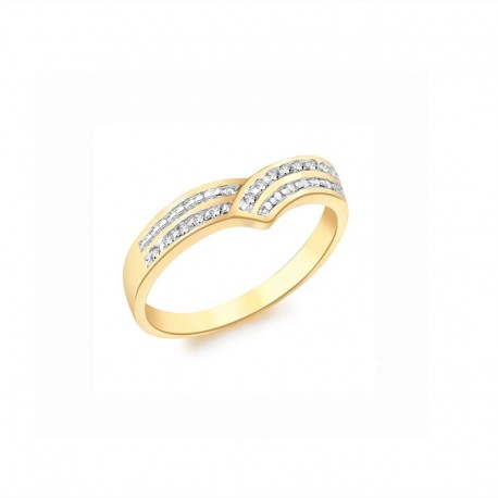 Ring Gold 375/1000 0.07ct Diamant