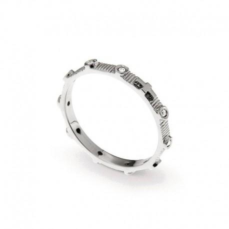 Man Silver Ring 925 Zirkonia