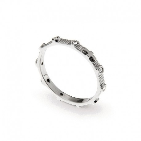 Men's Ring in Sterling Silver and Cubic Zirconia