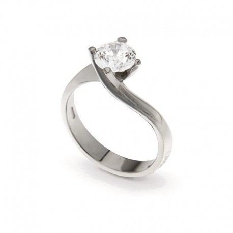 Solitaire in Silver 925 and Cubic Zirconia