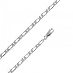 Bracelet maille figaro Argent 925/1000 18cm