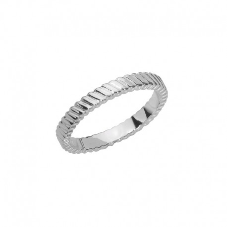 gestreifter Allianz Silber 925/1000