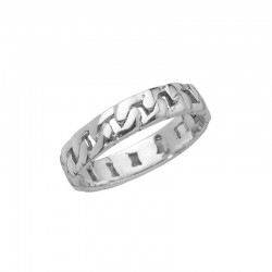 Curb chain style ring 925/1000