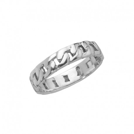 Curb chain style ring