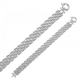 4 Reihenarmband in Silber 925/1000