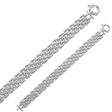 Bracelet 4 rows in silver 925/1000