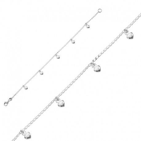 Armband mit Herz-Anhänger 925/1000