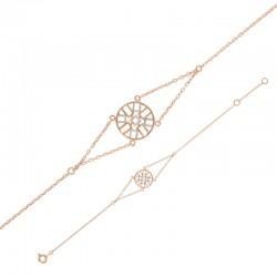 Silber-Armband mit zweifarbigen Symbolen 925/1000