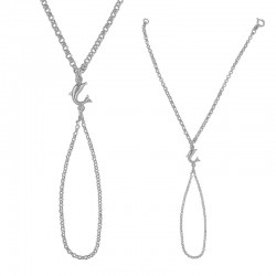 Bracelet bague dauphin 925/1000