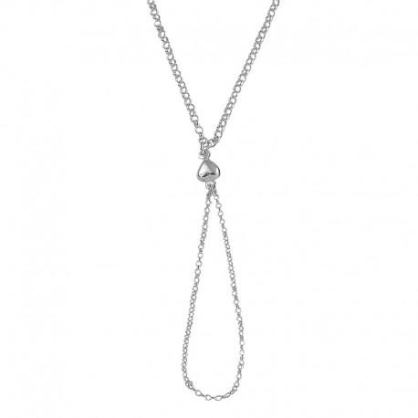 Bracelet bague coeur 925/1000