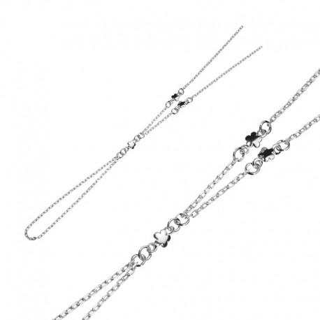Bracelet-bague fleur 925/1000