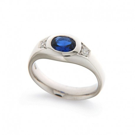 Man Silver Ring 925 Zirkonia