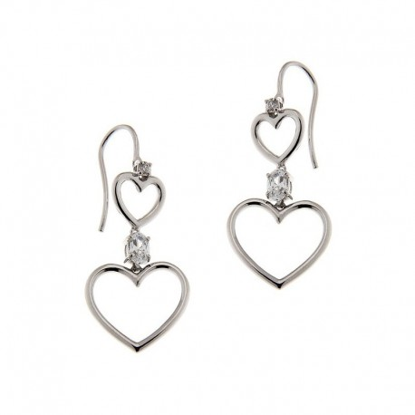 Earrings in Sterling Silver and Cubic Zirconia