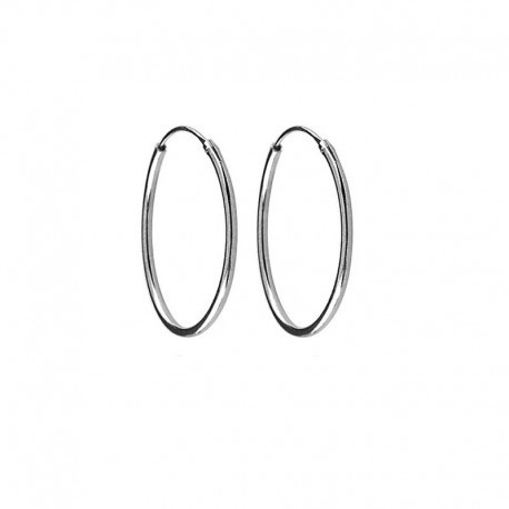 925 Silver Hoops