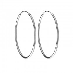 Hoops in Silver 925 threads 1 mm