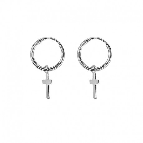 925 sterling silver earrings with cross
