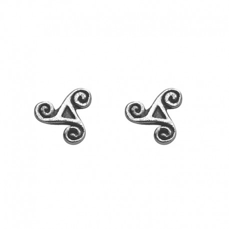 Triskel earrings in sterling silver