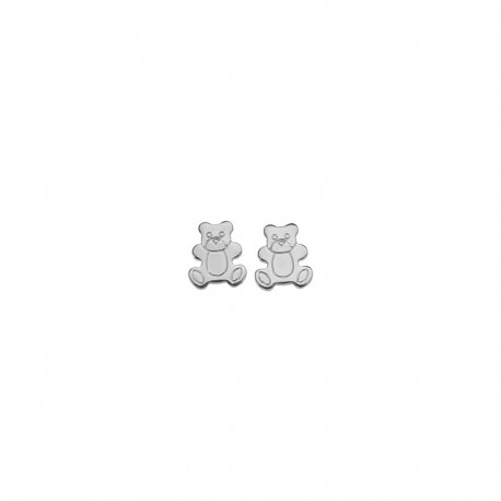 925 sterling silver bear earrings
