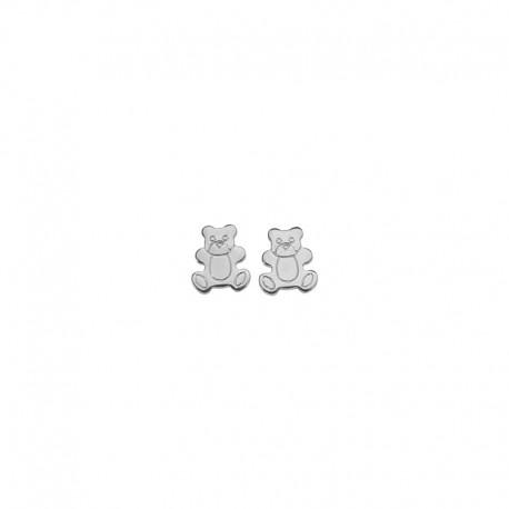 Boucles d'oreilles petit ours argent 925