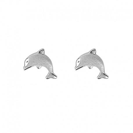 Ohrringe 925 Silber Delfin