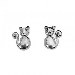 Ohrringe 925 Silber Katze
