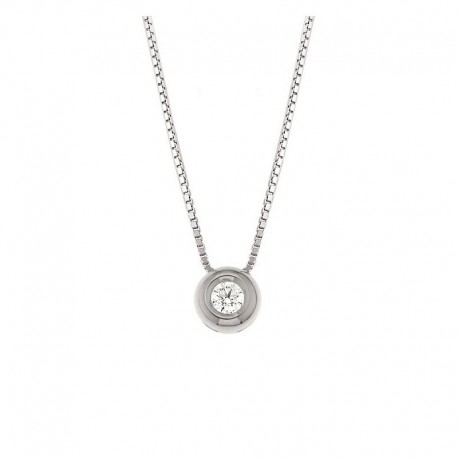 Gold Point Light Choker Necklace with Diamond in the chopping pendant