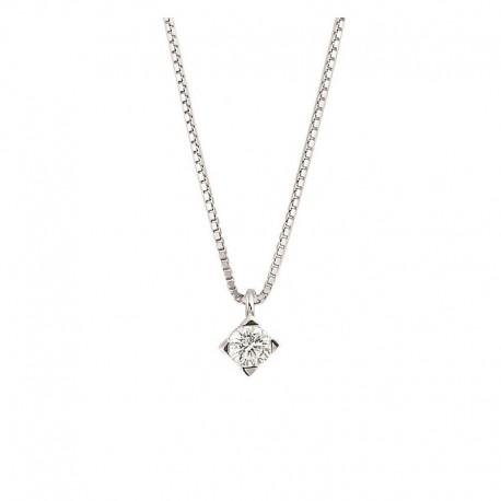 Gold Point Light Halsband Halskette mit Diamant-Set mit Backen