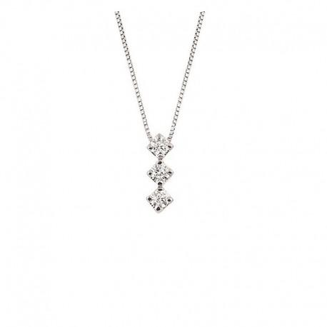 Gold-Trilogie Halsband mit Diamanten