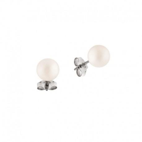 Pendientes de oro con perlas cultivadas de agua dulce