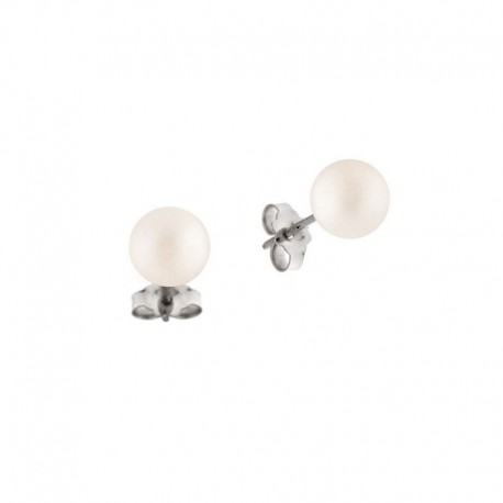 Gold earrings with freshwater cultured pearls