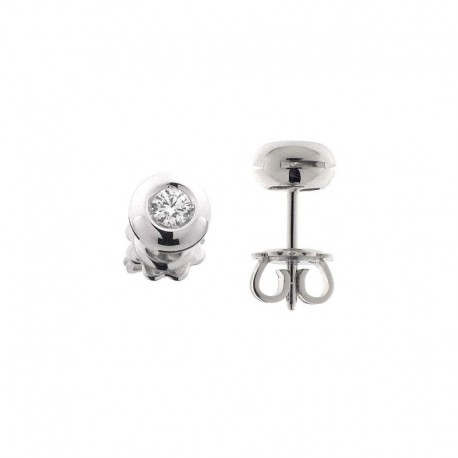 Boucles d'oreilles Cipollina Light Point en or avec 2 diamants taillés en brillant